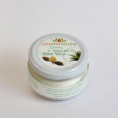 Crema anti-acné. Aloe vera y árbol de té. 120ml