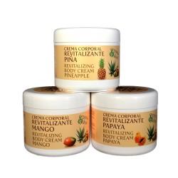 Crema revitalizante de Papaya con Aloe Vera y aceite de Argán. 500g